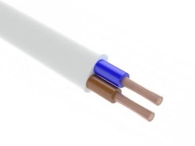 OMYp plochý kábel 2x1. 5 White 300V 50 MB G-011602