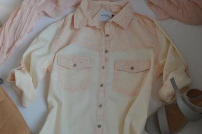 Reserved brzoskwiniowa koszula 7545604518 oficjalne