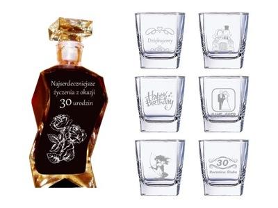 Wspaniały prezent - Karafka z grawerem 12 szklanek