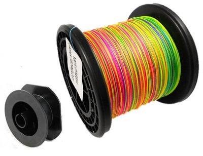 Plecionka MORSKA multicolor tęczowa kolor 0,60 mm