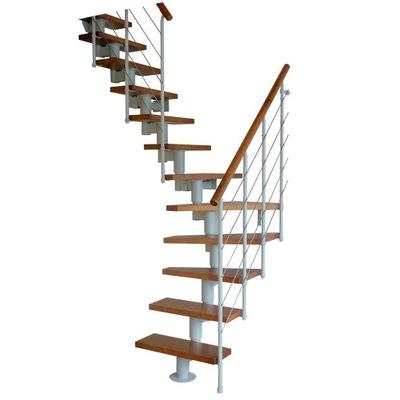 Лестница КОРА модель Мади  03 Л -90 14 элементов