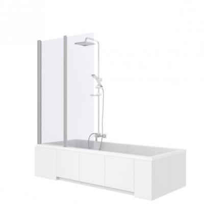 Sprchové dvere - REA AGAT 2-elementová vaňová obrazovka. 100cm sklo
