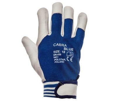 перчатки Кабре Blue кожа Лицевая Козья года.10