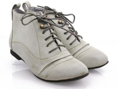 6966962d Sztyblety damskie szare buty damskie - 7572882063 - oficjalne ...