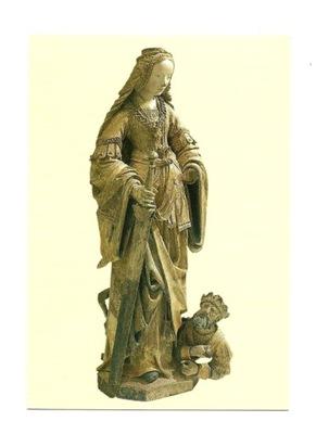 Pocztówka - Św. Katarzyna / rzeźba, ok. 1525 r.