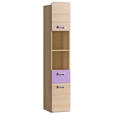 мебель LORENTO L3 узкий шкаф столбик 3цвета