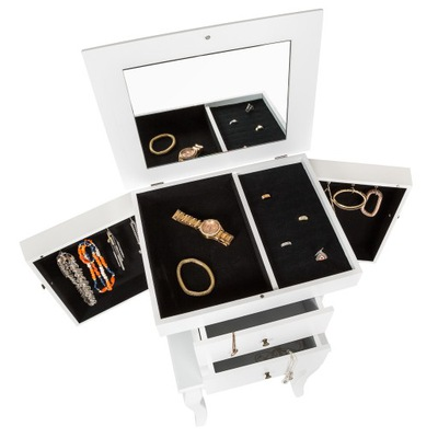 Szafka Szkatułka na biżuterię z lustrem 400786