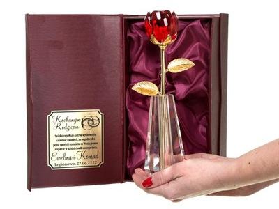 ХРУСТАЛЬНЫЙ роза гравер подарок день святого instagram + ВАЗА