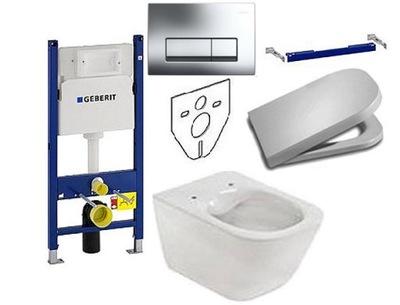 Set do kúpeľne a WC - STELA GEBERIT UP100 ROCA GAP ČISTÁ RIM DESKA W / O