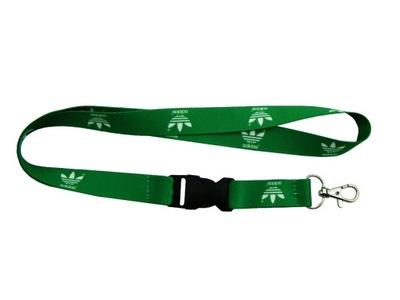 Smycz ADIDAS zielona szer. 20mm dł. 52cm