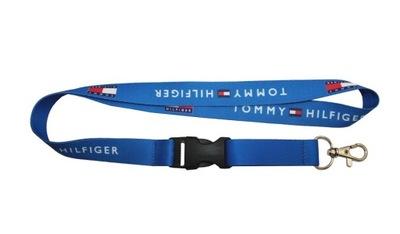 Smycz TOMMY HILFIGER niebieska szer. 20mm dł. 52cm