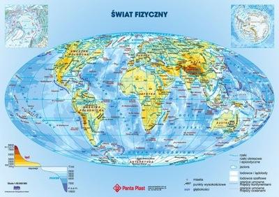 Podkładka podkład na biurko dwustronna Mapa Świata