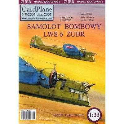 CardPlane 3-5/2005 - Samolot LWS-6 Żubr 1:33