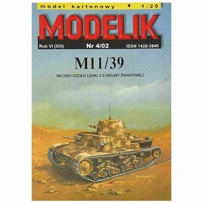 Modelik 4/02 Włoski czołg lekki M11/39 1:25