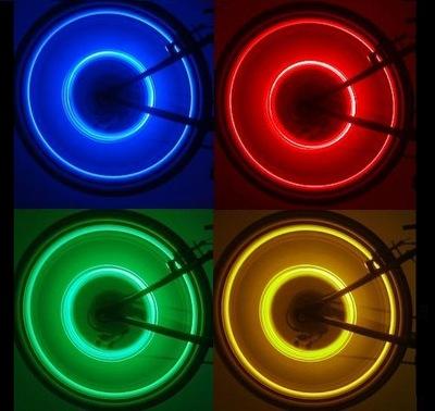 LASEROWE KOŁA neony na koło rower 4 LED rowerowe