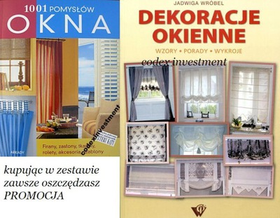 OKNA 1001 pomysłów + dekoracje okienne firany