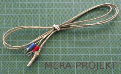 Sonda temperatury typu K, M6, przewód 1m metal