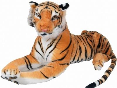 TIGER BIG CAT mäkká hračka HNEDÁ BIELA 110+60 cm 2wz