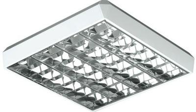 Bodové svetlá, bodové osvetlenie - Oprawa nasufitowa rastrowa 2x36W G13 Ikl. 230V IP2
