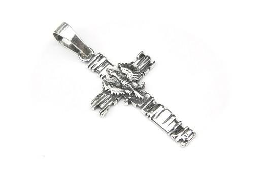 Krzyz Srebrny 925 Patriotyczny Bog Honor Ojczyzna 5283040406 Allegro Pl