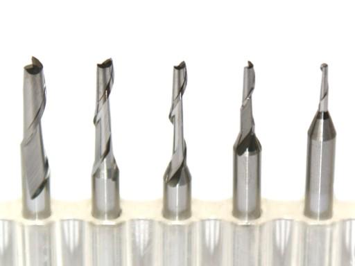 Frezy VHM węglik jednopiórowy CNC do PCV PLEXI PE