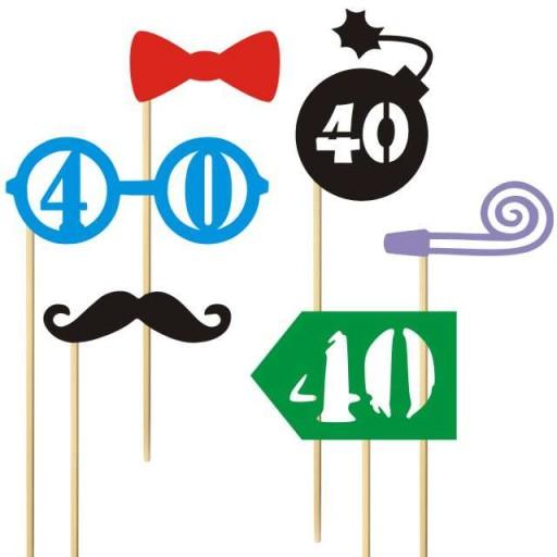 Karteczki Na Patyczku 40 Urodziny Foto Gadzet 6szt 6220546483 Allegro Pl