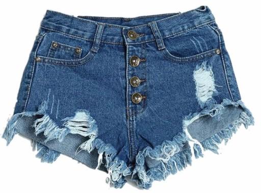 8b71e2642c Krótkie spodenki damskie szorty jeansowe L 40 6384388511 - Allegro.pl