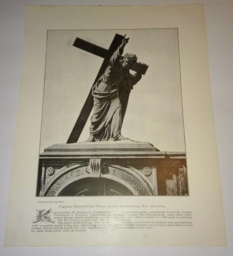 WARSZAWA KOŚCIÓŁ ŚW. KRZYŻA CHRYSTUS 1920