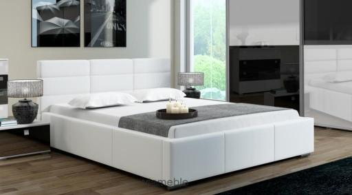 łóżko Do Sypialni 140x200 Pojemnik Stelaż Tanio