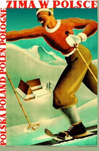 Plakat Zakopane Podhale Beskidy Polskie Art Deco