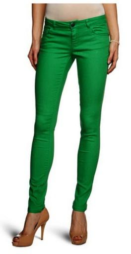 ONLY damskie spodnie skinny green S dług. 34