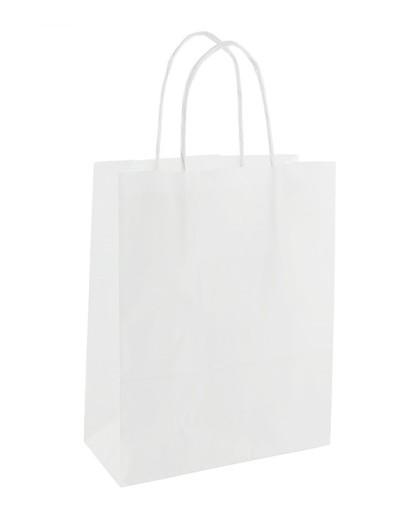 36d56249b17a8 Torebki papierowe BIAŁE gładkie Torby na zakupy 5168295652 - Allegro.pl