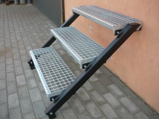 Super Schody metalowe zewnętrzne DM,STOPNIE OCYNK 120cm 6839757868 HG35