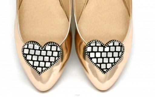 Klipsy do butów COQUET: Serduszka - Disco