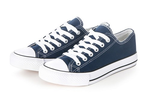 Buty sportowe TRAMPKI damskie tenisówki Granatowe