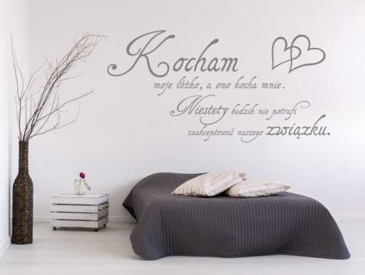 Napis Na ścianę Sypialnia Kocham Moje łóżko 255