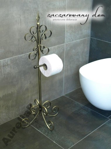 Meble Stojak Na Papier Toaletowy Shabby Retro 5789368023 Allegropl
