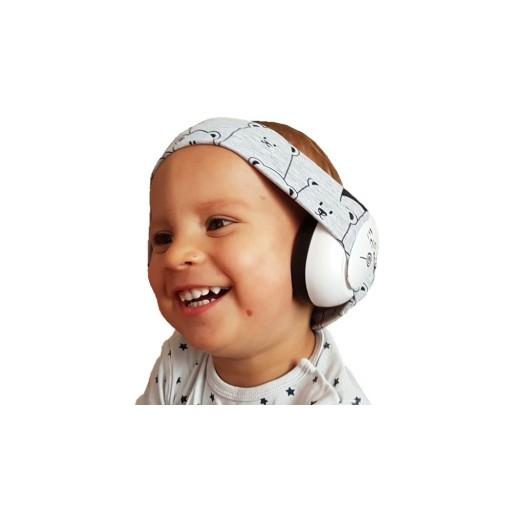 Słuchawki wygłuszające dla dzieci Szara panda 24H