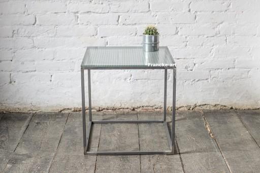 Stół Stolik Metalowy Loft Blat Szklany Producent