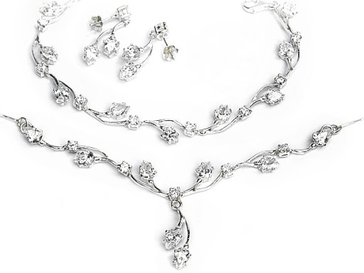 Galeria Bizuterii Przesliczny Srebrny Komplet 7276911057 Allegro Pl