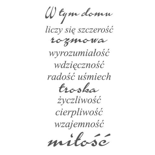 Naklejki Cytaty Naklejki Scienne Napisy Dom 6735572939 Allegro Pl