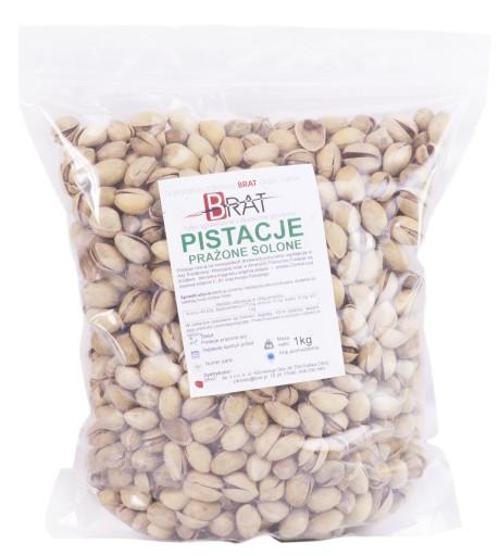 Pistacje PRAŻONE SOLONE 1kg ORZECHY pistacjowe
