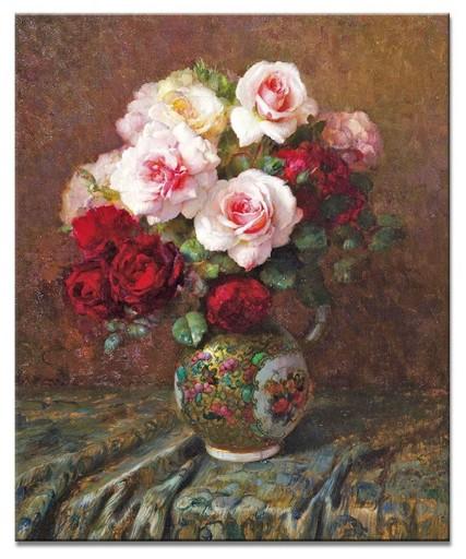 Obraz Kwiaty Piwonie Maki Róże Bukiet W Wazonie 6756998346 Allegropl