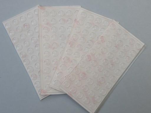 Odbojniki silikonowe amortyzatorki listek 50 szt.