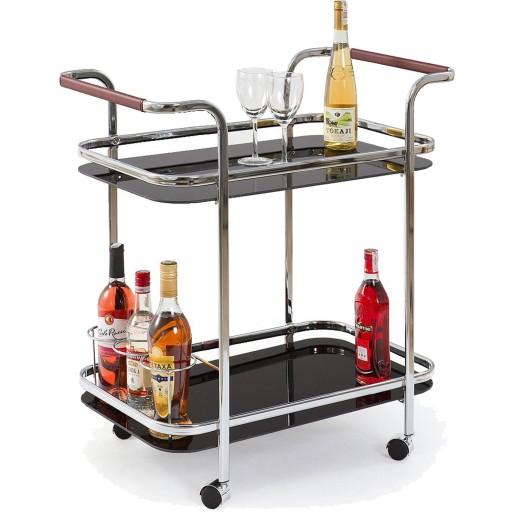 Barek na kółkach BAR-7 Stolik Wózek kuchenny Szkło