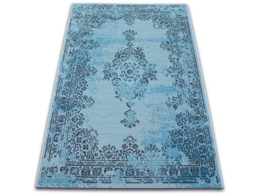 DYWAN VINTAGE 80x150 ROZETA niebieski czarny #B771