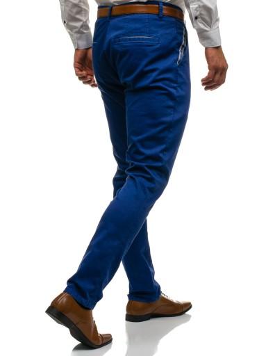 SPODNIE CHINOSY MĘSKIE NIEBIESKIE 4326 ROZMIAR_ 28 7372273822 Odzież Męska Spodnie PE WUXIPE-6