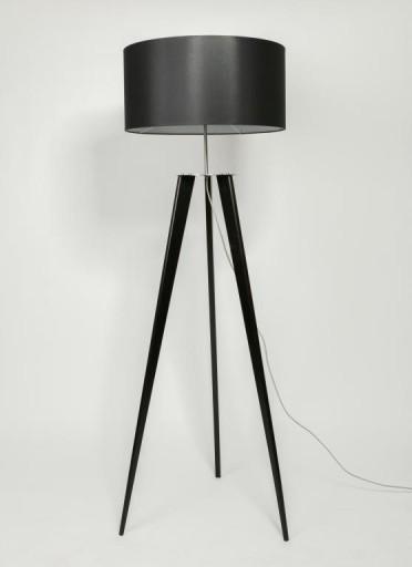 Lampa Stojąca Podłogowa Sztalugowa Trójnóg Czarna 5528660871