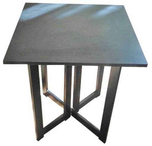 Stolik Składany 6565cm Czarny Rozkładany Wenge