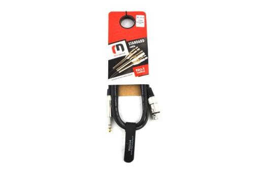 Kabel Mikrofonowy Jack stereo-xlr żeński 3m Red's